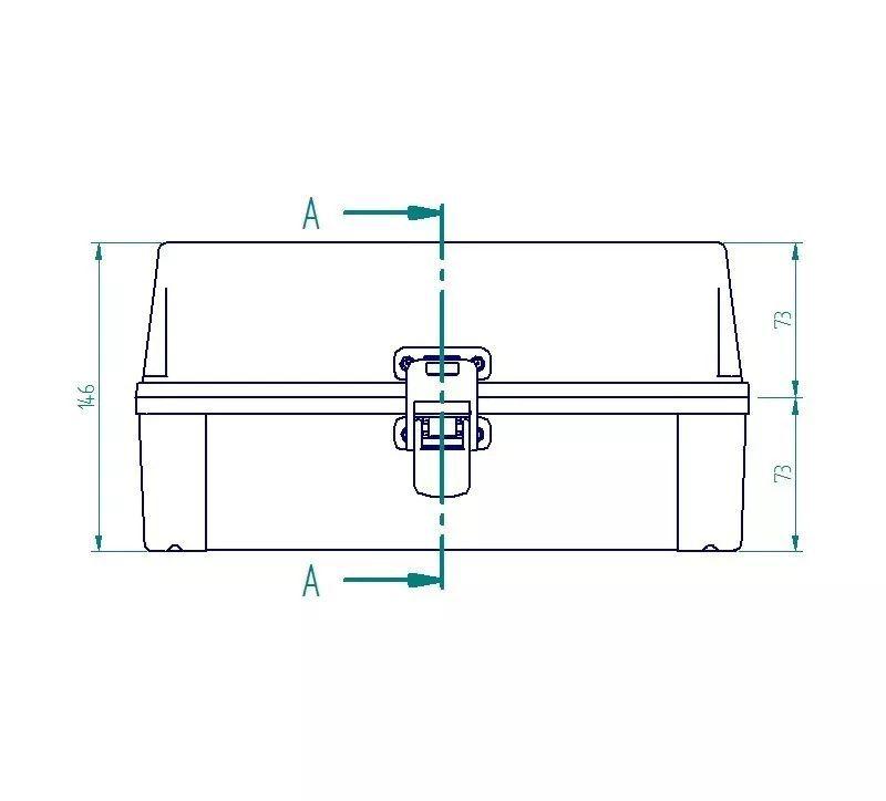 Caixa Plástica Opaca Com Dobradiça Ip65 280x180x140mm