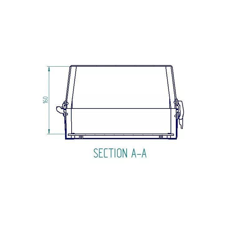 Caixa Plástica Opaca Com Dobradiça Ip65 350x260x170mm