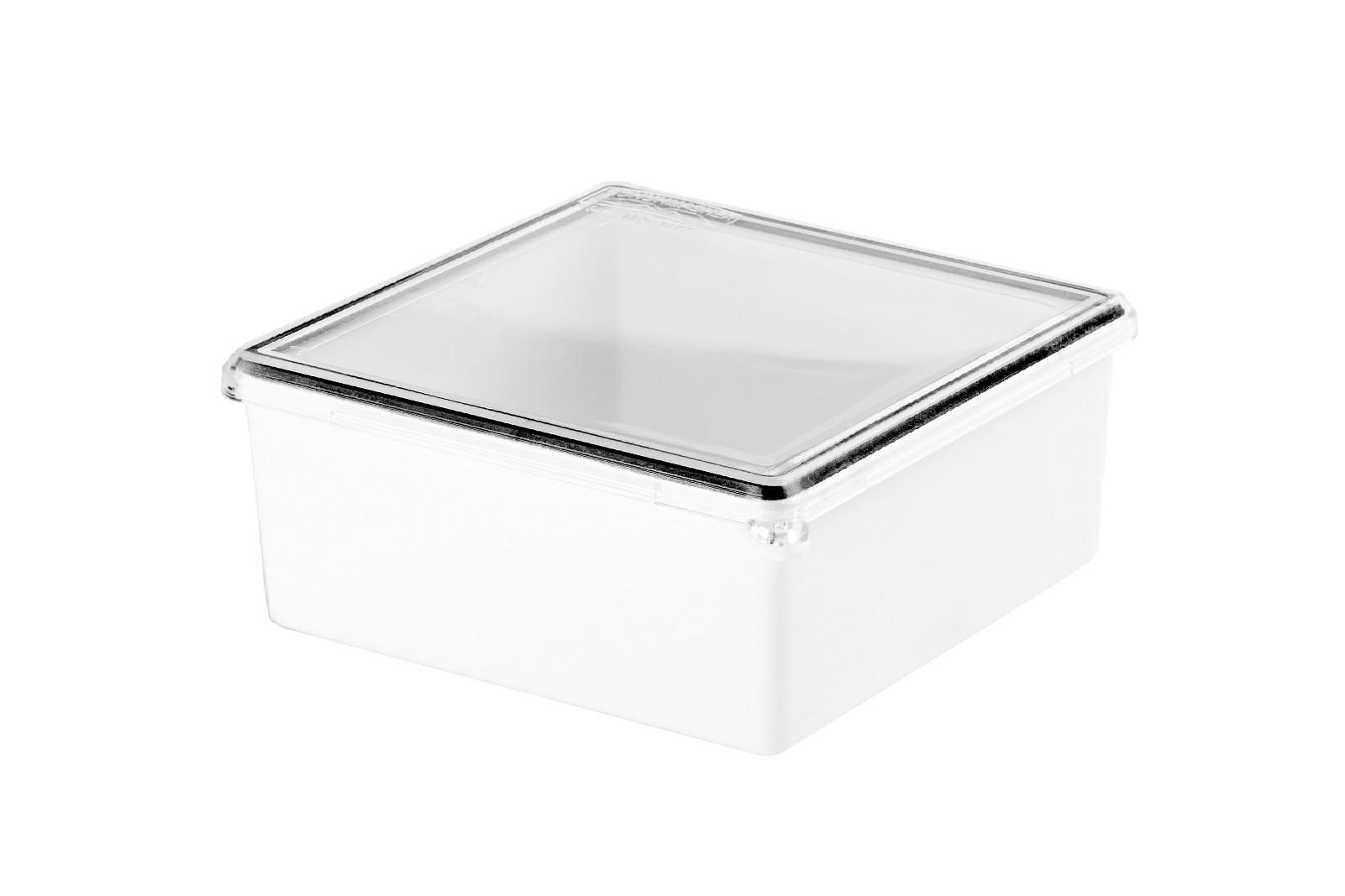 Caixa Plastica Pressao 155x155x 70mm Branca/Transparente Schuhmacher