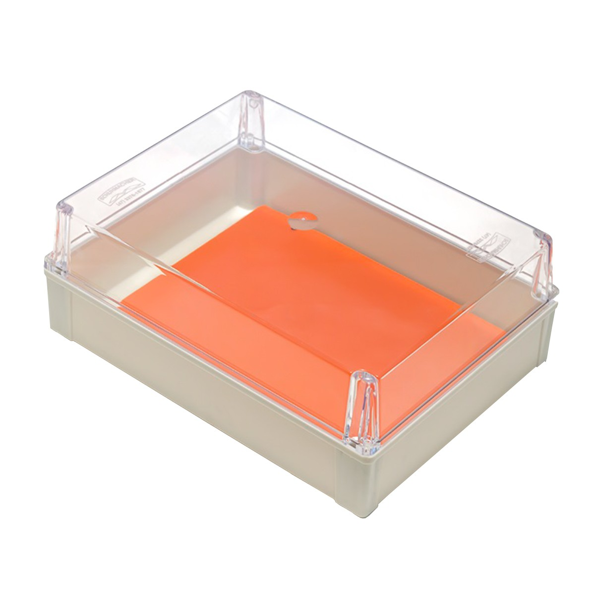 Caixa de Sobrepor Plástica Tampa Transparente 350x260x130mm Schuhmacher 21.15.08