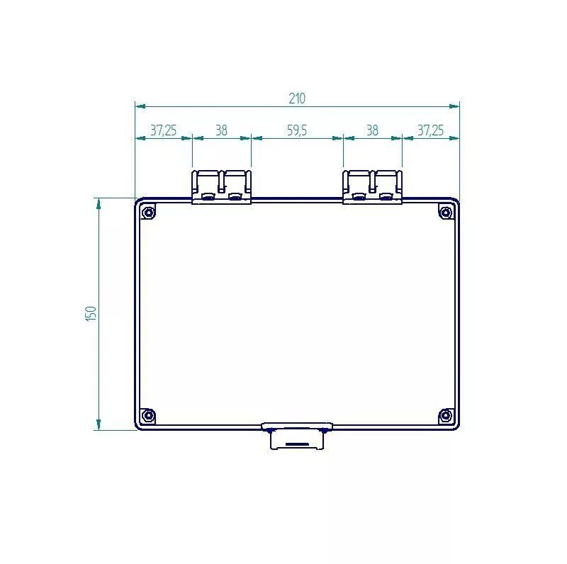 Caixa Plástica Transparente Com Dobradiça Ip65 200x140x140mm