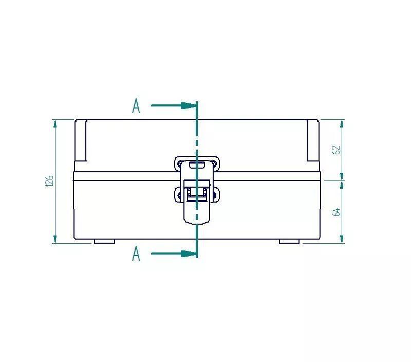 Caixa Plástica Transparente Com Dobradiça Ip65 250x160x120mm