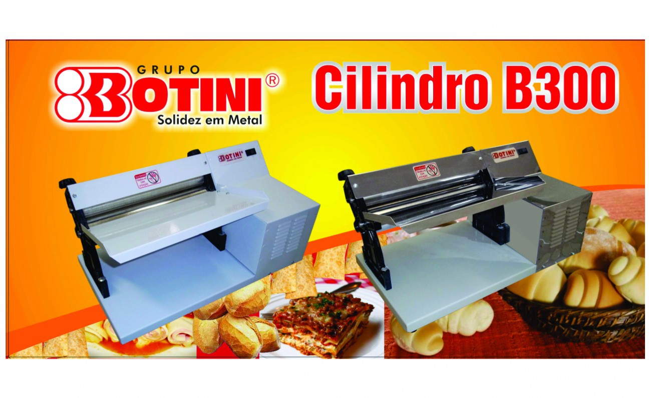 Cilindro Elétrico B300 INOX para Massas Lasanhas Pastéis Pão