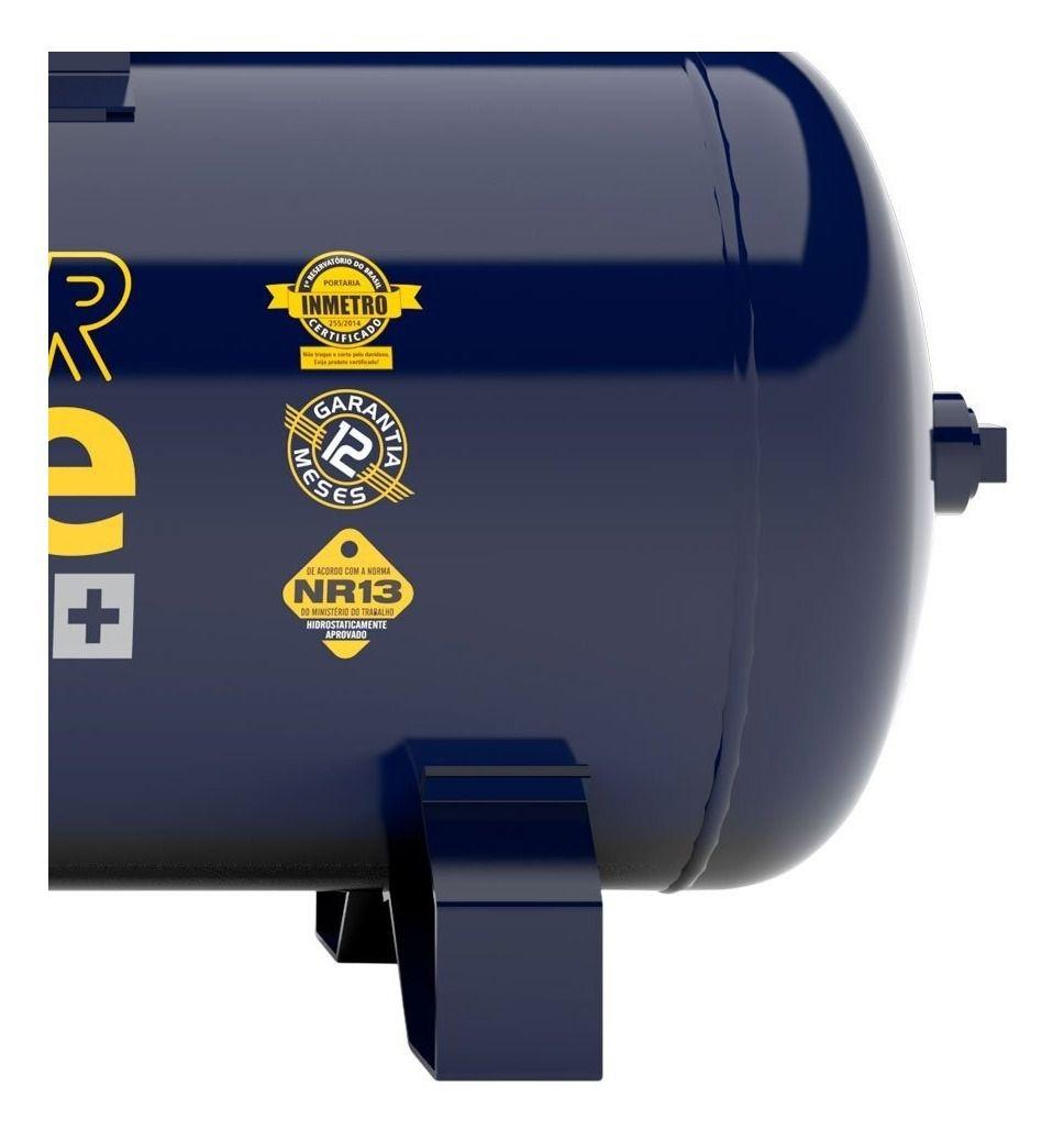 Compressor De Ar 20 Pés Monofásico Pressure Alta Pressão 175