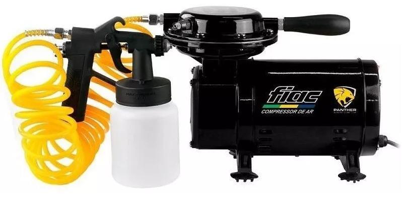Compressor de Pintura Ar Direto Com Kit Pistola Fiac Panther