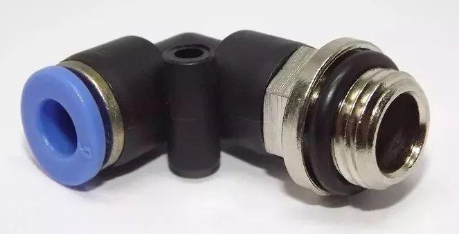 Conexão Cotovelo Engate Rápido 1/4 Mangueira Tubo 8mm