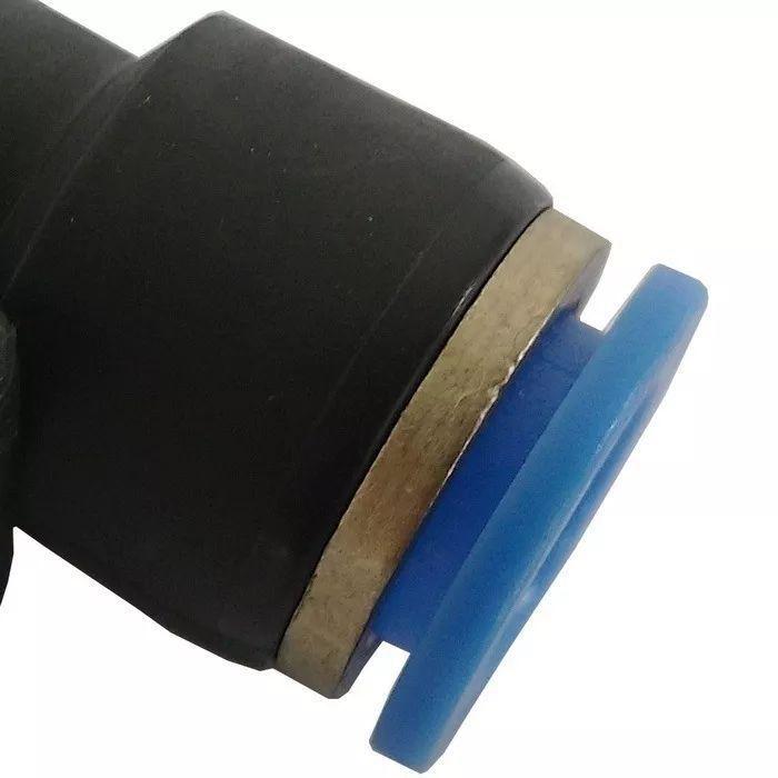Conexão Cotovelo Engate Rápido União Mangueira Tubo 10mm 5pç