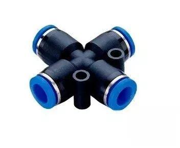 Conexão Cruzeta Engate Rápido União Mangueira Tubo 6mm