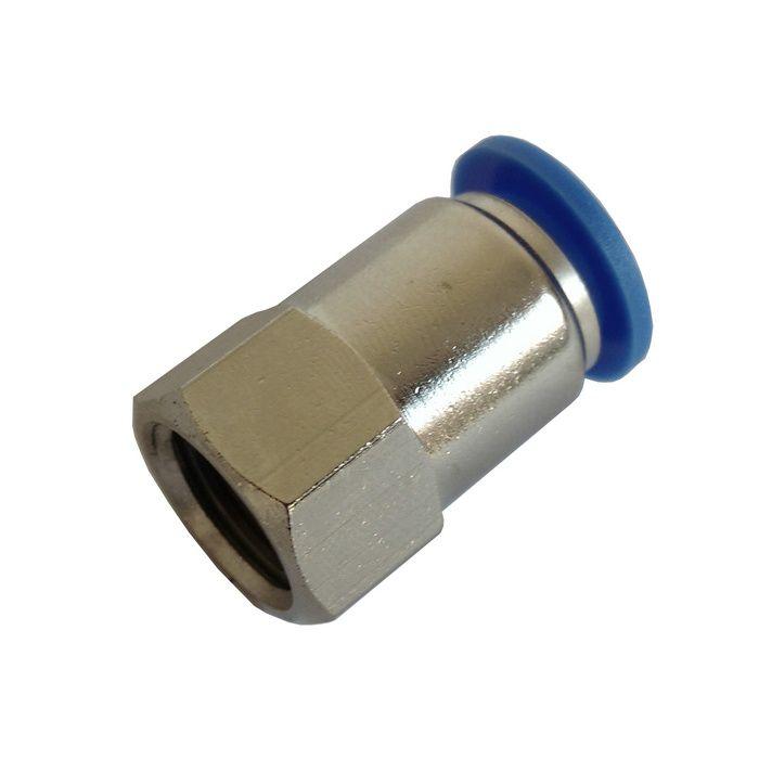 Conexão Engate Rápido Rosca Fêmea 1/4 X Mangueira 8mm