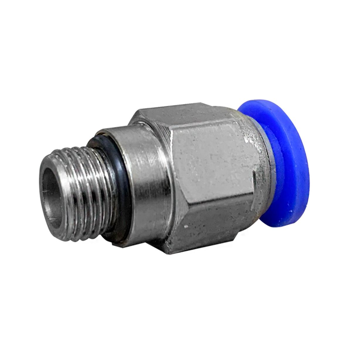 Conexão Engate Rápido Rosca Macho 1/4 X  Tubo PU 6mm 40pç