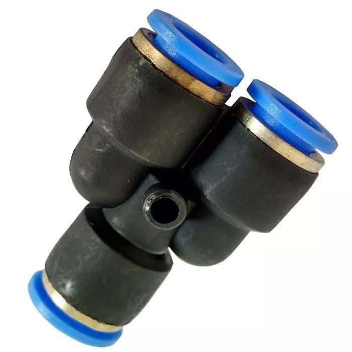 Conexao Pneumatica Uniao Y Tubo PU 6mm