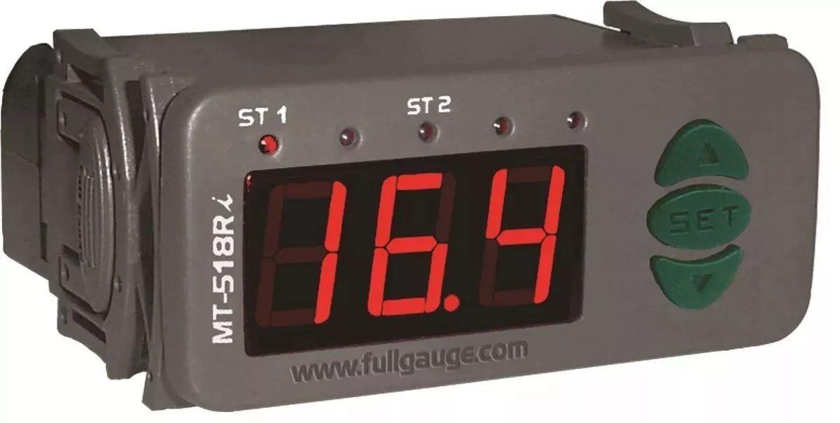 Controlador De Temperatura Duplo Estágio Full Gauge Mt 518ri