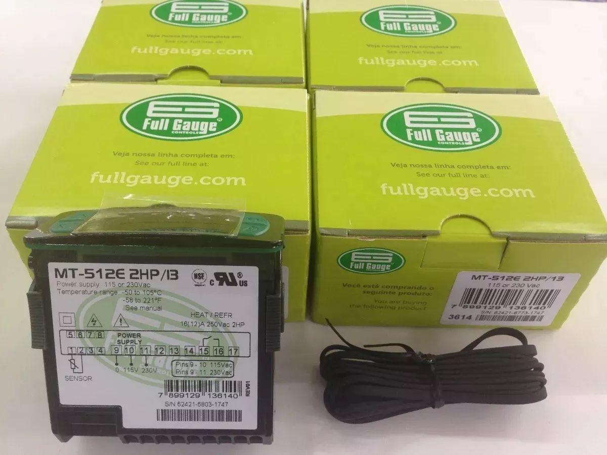Controlador Temperatura Mt-512e 2hp Full Gauge (c/ Sensor)