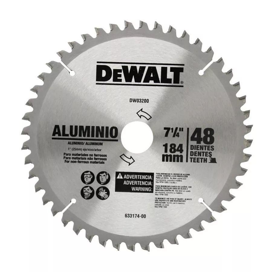 Disco De Serra 7 1/4 48 Dentes Para Aluminio Dewalt Dw03200