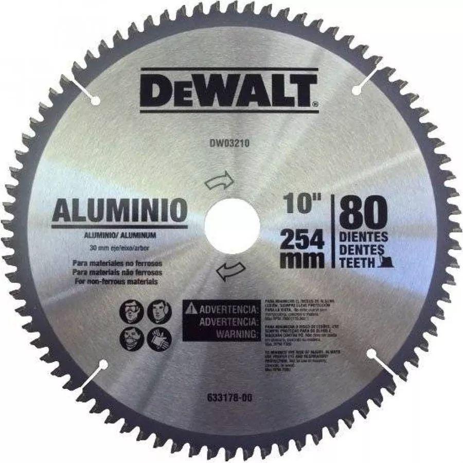 Disco De Serra Esquadria Widea 10 Alumínio 80 Dentes Dewalt