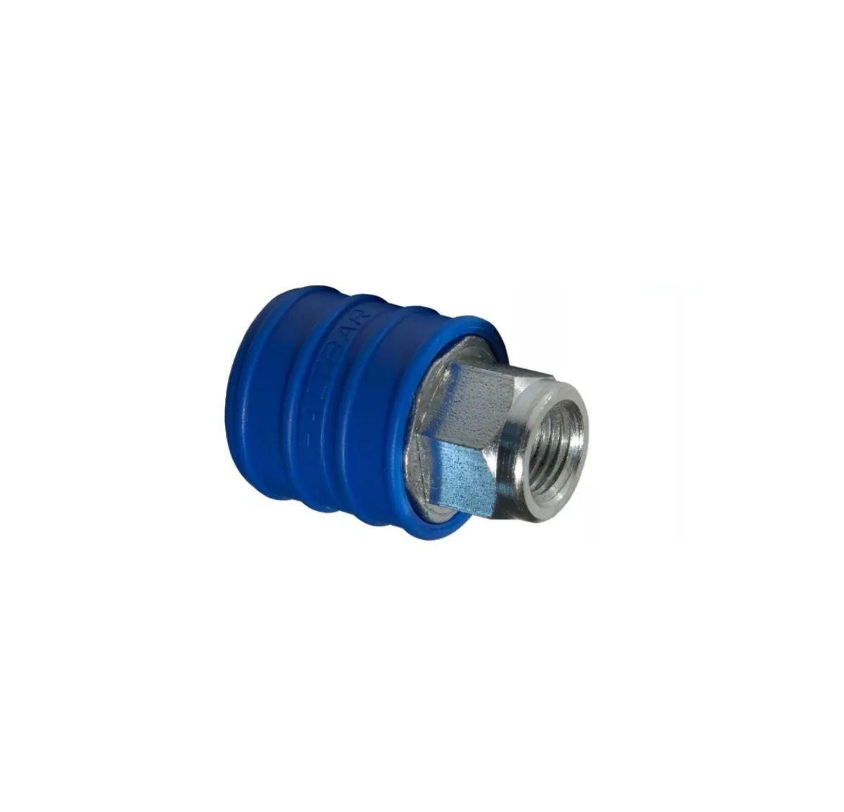 Engate Rápido De Ar 1/4 Polegadas Azul Fêmea Para Compressor