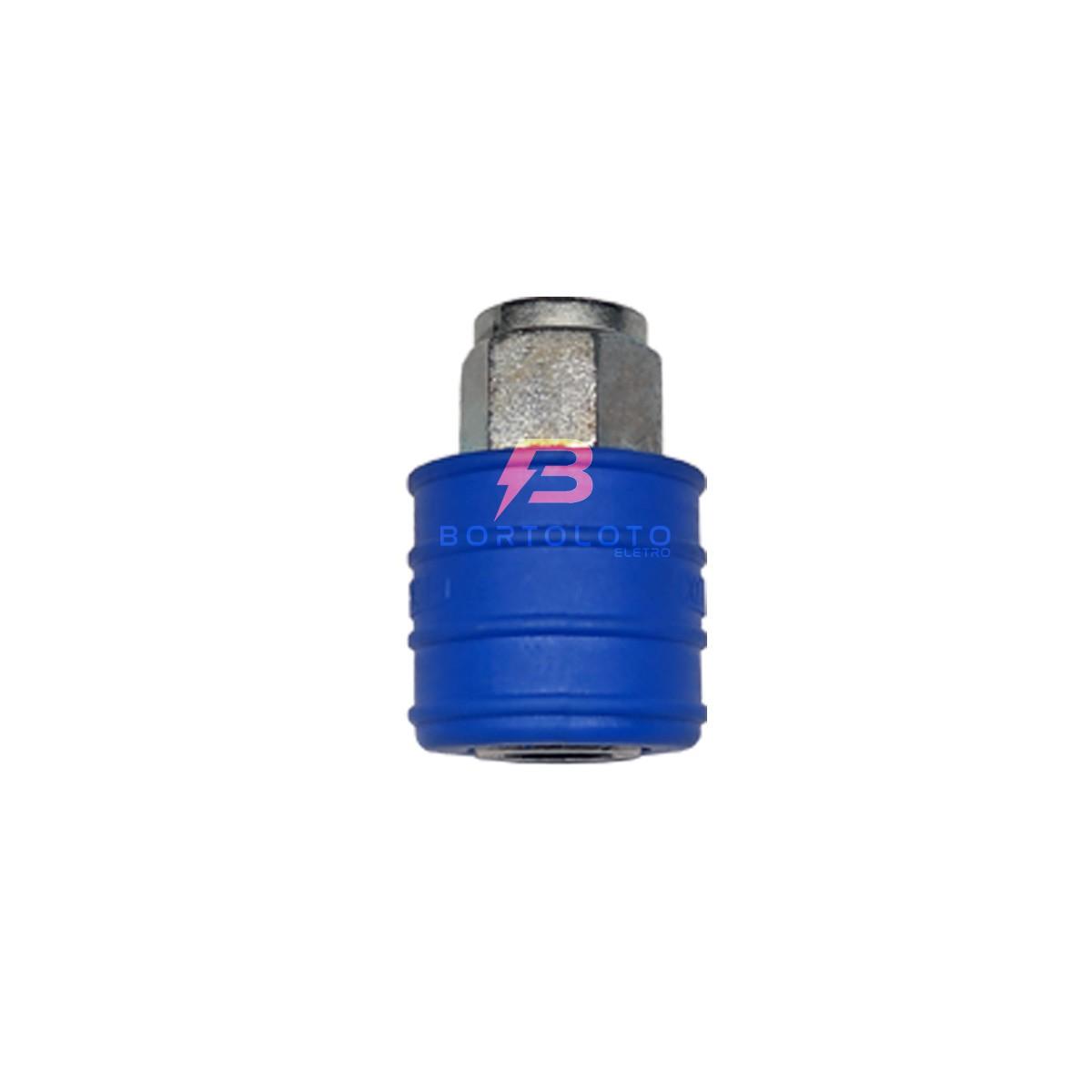 Engate Rapido ¼ Para Compressor Conector 6 Peças