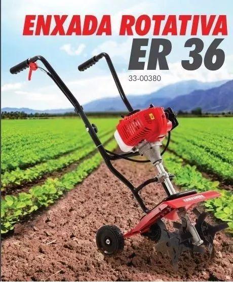Enxada Rotativa Kawashima Kws Er36 Motor Roçadeira 52cc