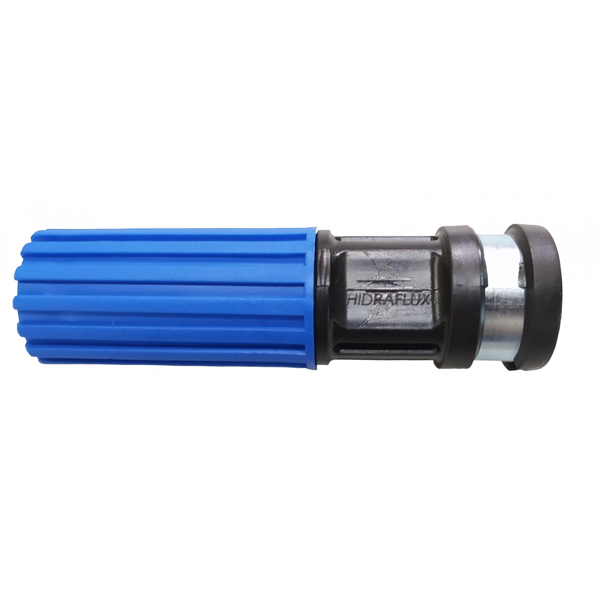 Esguicho Bico Regulavel Lava Jato Auto 1/2 Saída 4,6mm Azul Hidraflux