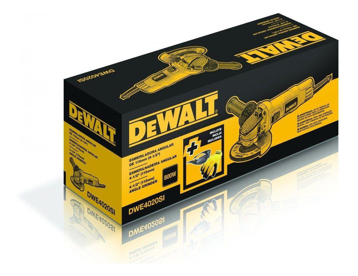 Esmerilhadeira Angular 4.1/2 800w DWE4020BR 127v Dewalt