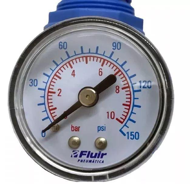 Filtro De Ar C/ Regulador 1/4 Fluir Compressor Com Proteção
