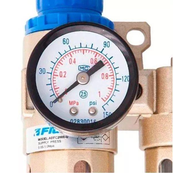 Filtro De Ar Regulador Lubrificador 1/4 Fluir P/ Compressor