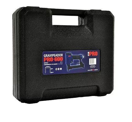 Grampeador Pneumático Tapeceiro 8016 Profissional C/ Maleta