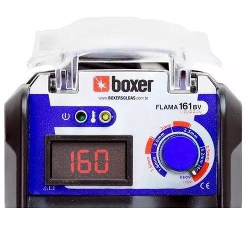 Inversora De Solda Boxer Flama 161 Bivolt + Tocha Tig 3,5mts