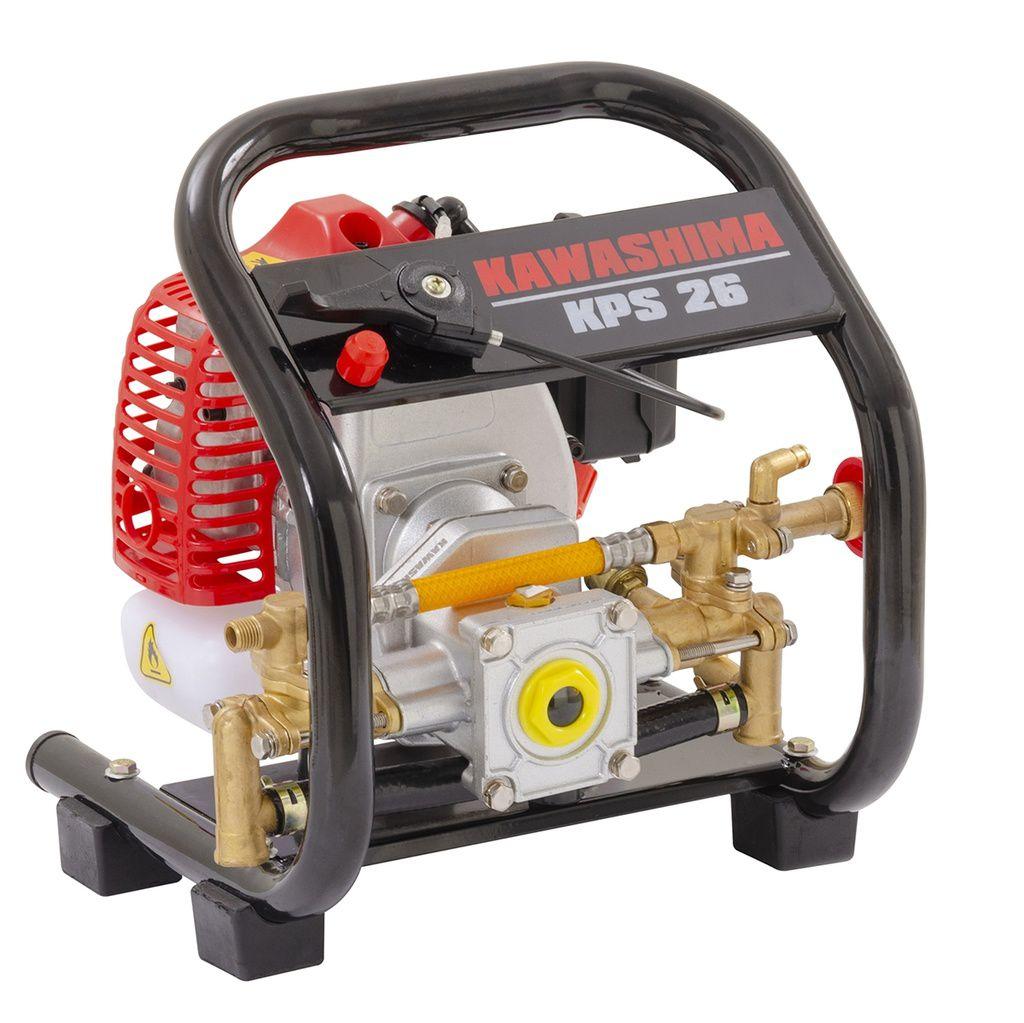 Pulverizador Estacionário Kawashima A Gasolina Kps26 Motor 25,4cc Bomba Agricola