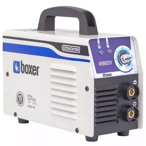 Kit Máquina De Solda Inversora 140a Touch150 Boxer Bivolt