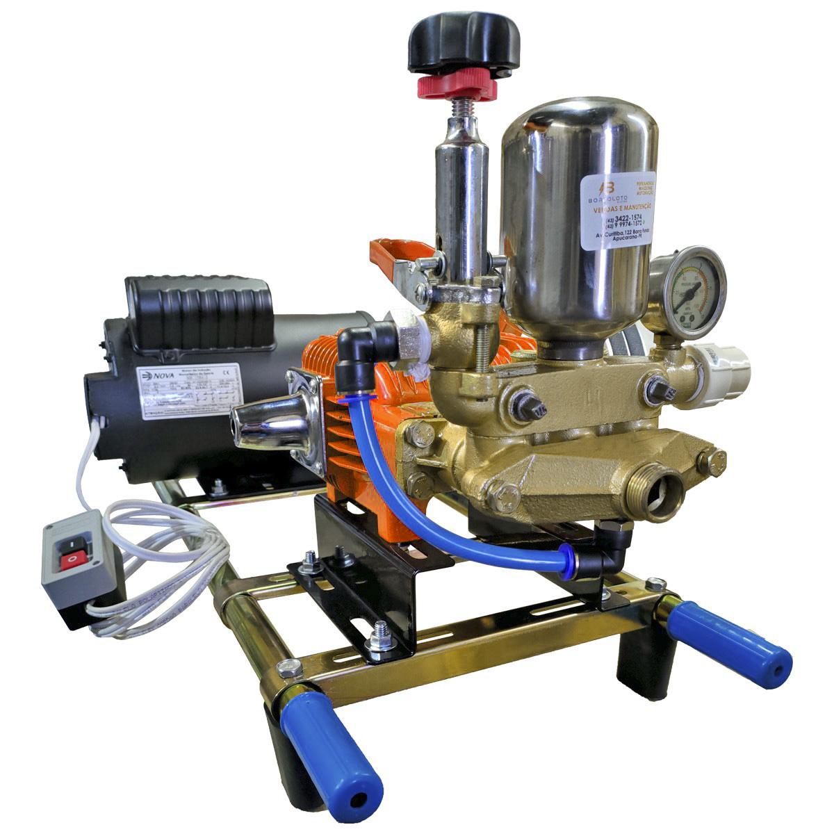 Lavadora De Alta Pressão Profissional Lava Jato Motor 2CV Monofásico Mangueira 40 Metros