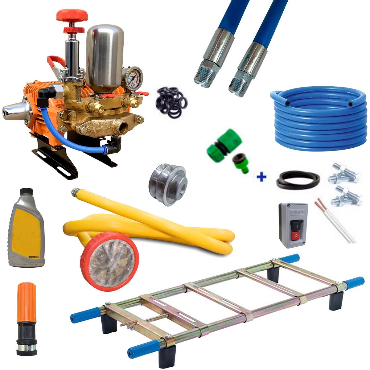 Lavadora Profissional Alta Pressão Lava Jato 3 Pistões 22L Mangueira 20M S/ Motor