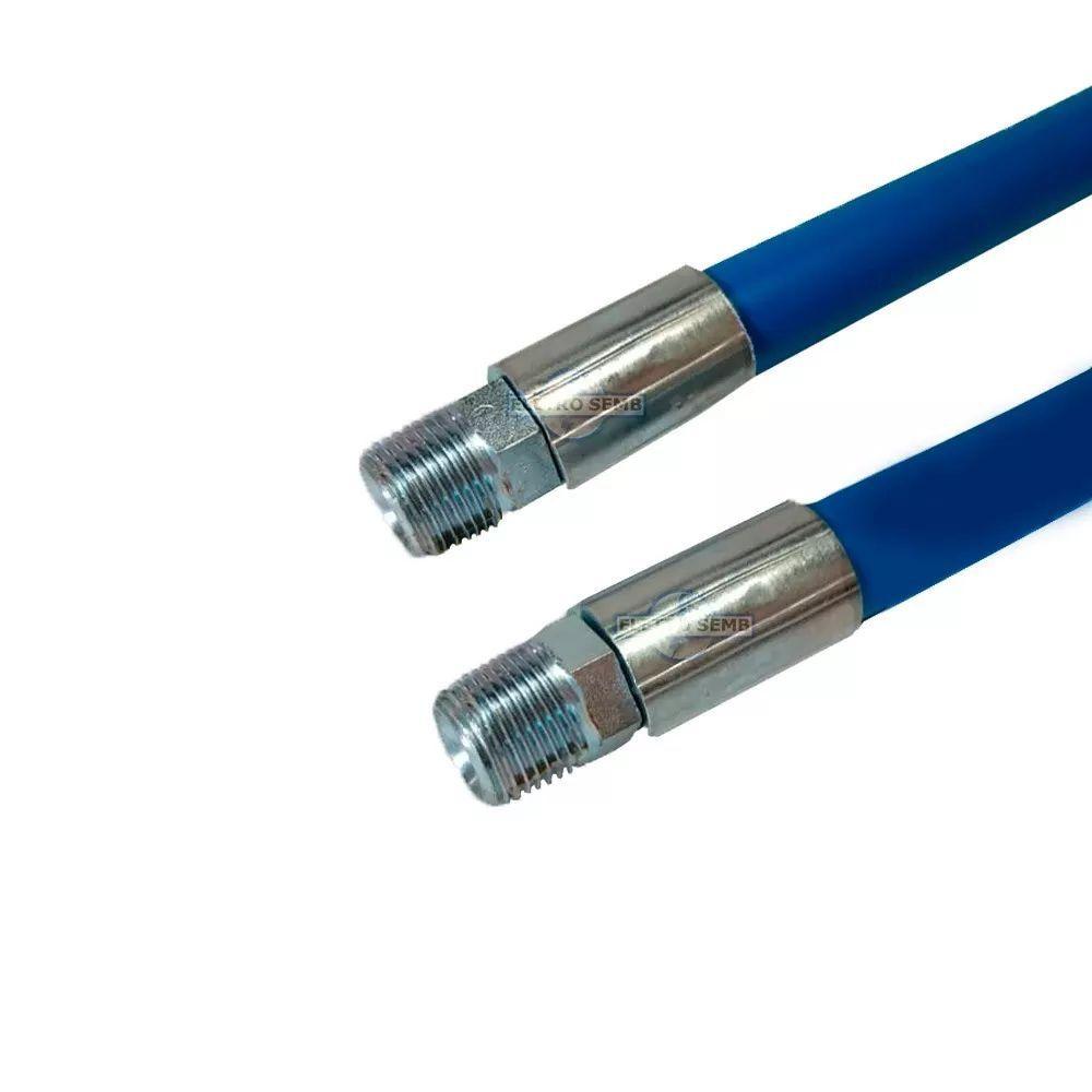 Mangueira 1/2 Lava Jato 2500 Lbs Azul C/ Term. 15mt+esguicho 2,2 Preto