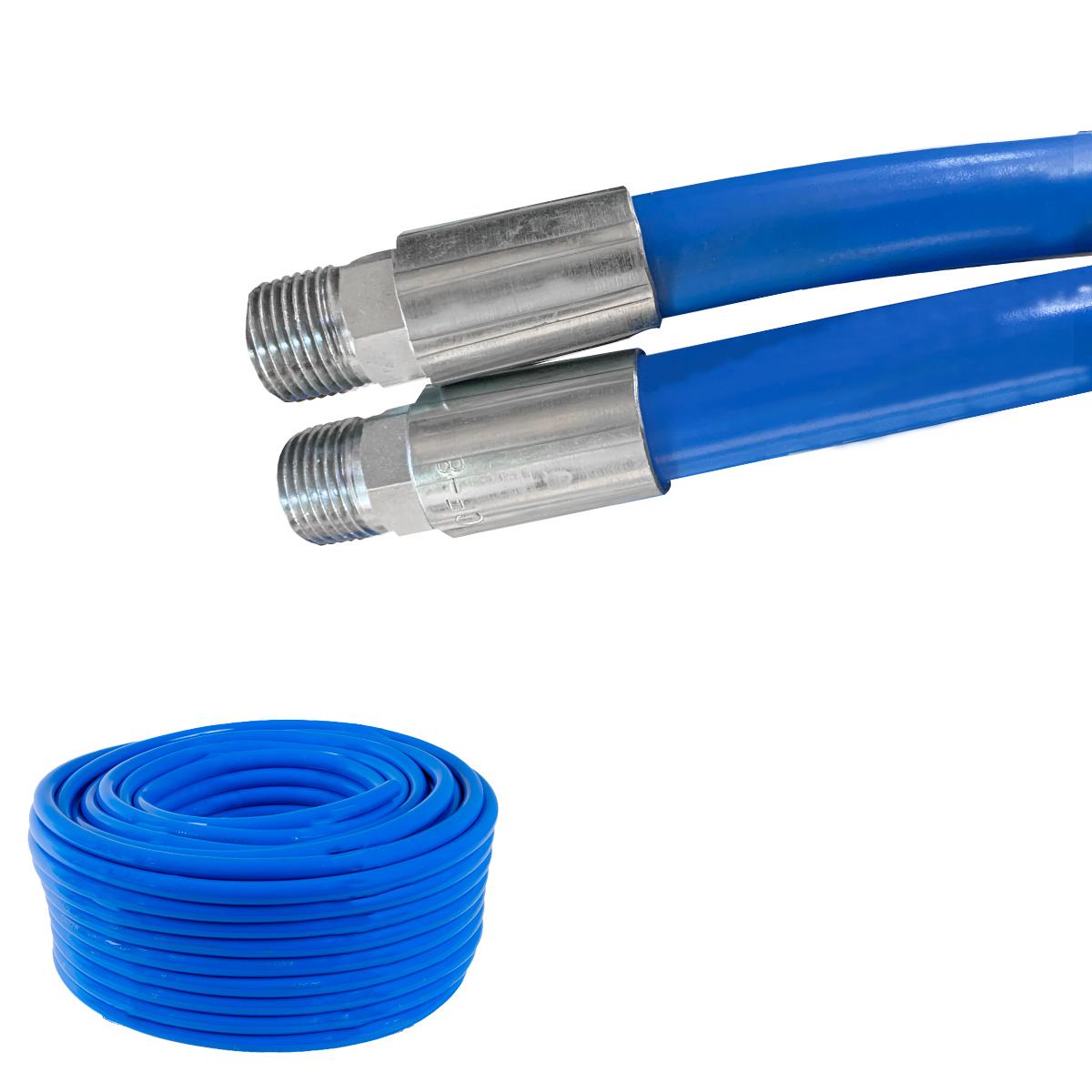 Mangueira 1/2 Lava Jato 2500 Lbs Ibirá Azul C/ Terminal