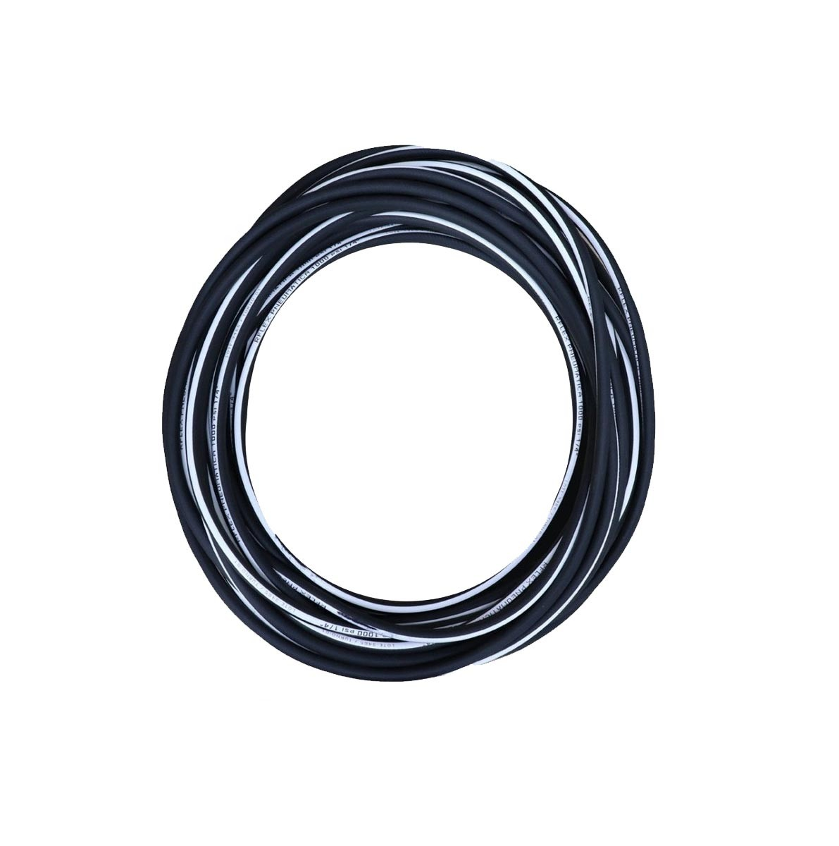 Mangueira de Ar P/ Compressor 5/16 Preta Faixa Branca 1000Psi 10 Metros