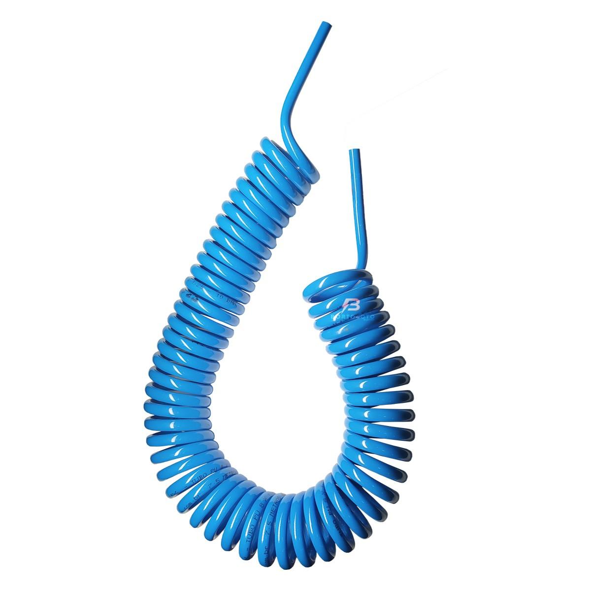Conector Engate Rapido Mangueira Espiral 10m Pu Kit 5 Peças