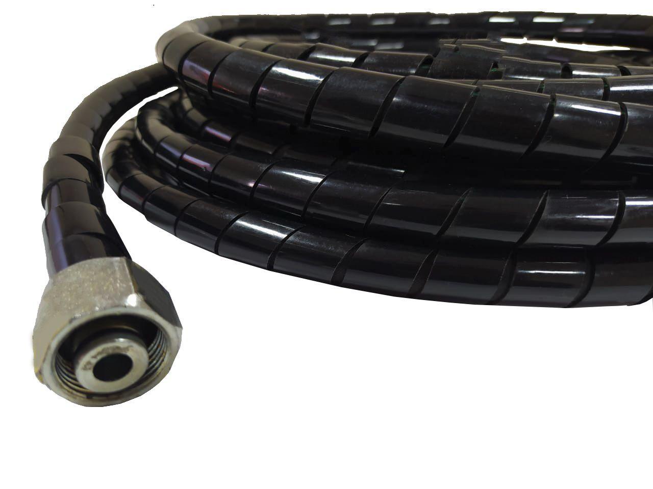 Mangueira Lavadora Karcher Trama Aço Hd 585 Profis 10 Mts C/ Proteção Aspiral
