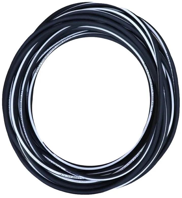 Mangueira de Ar P/ Compressor 5/16 Preta Faixa Branca 1000Psi 30 Metros