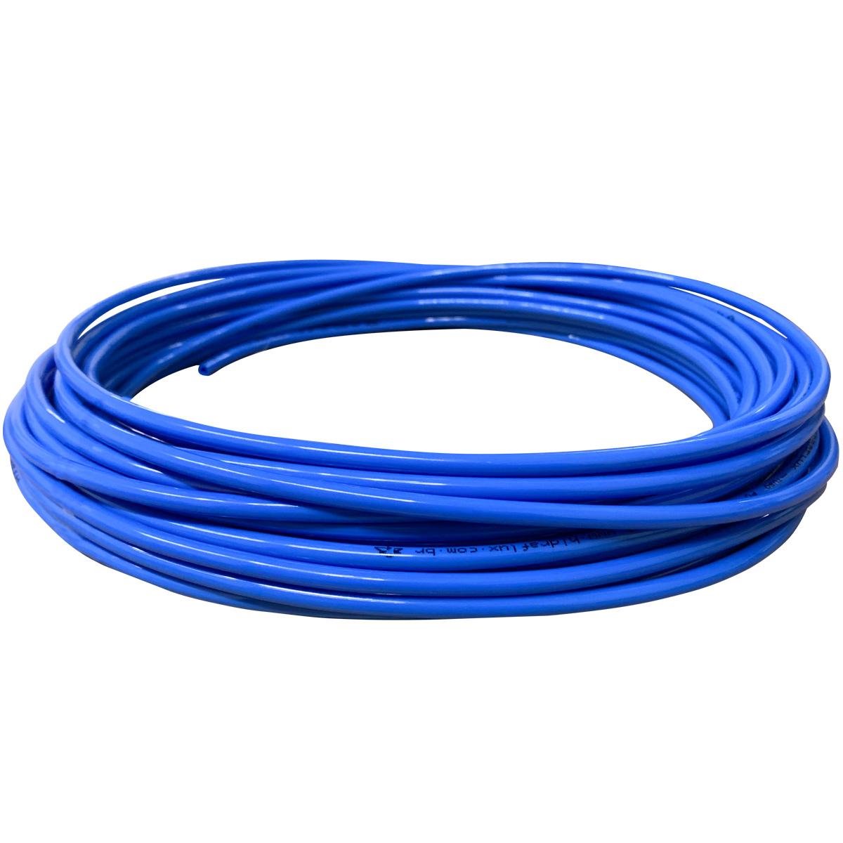 Mangueira Pneumática De Poliuretano (pu) Tubo 8mm Azul - 1 Metro