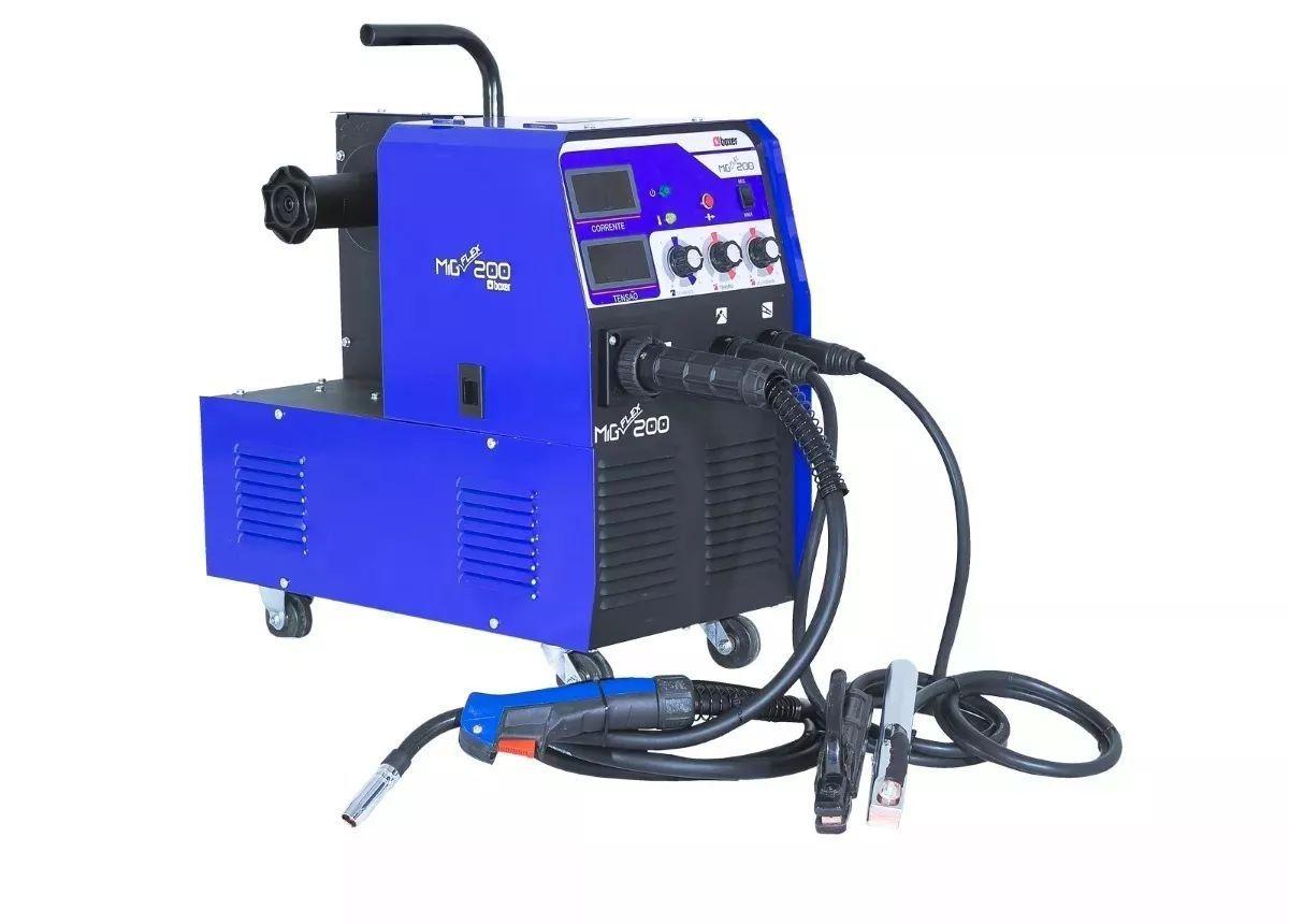 Máquina De Solda Mig Flex 200 A Eletrodo Tig Boxer Multiproc