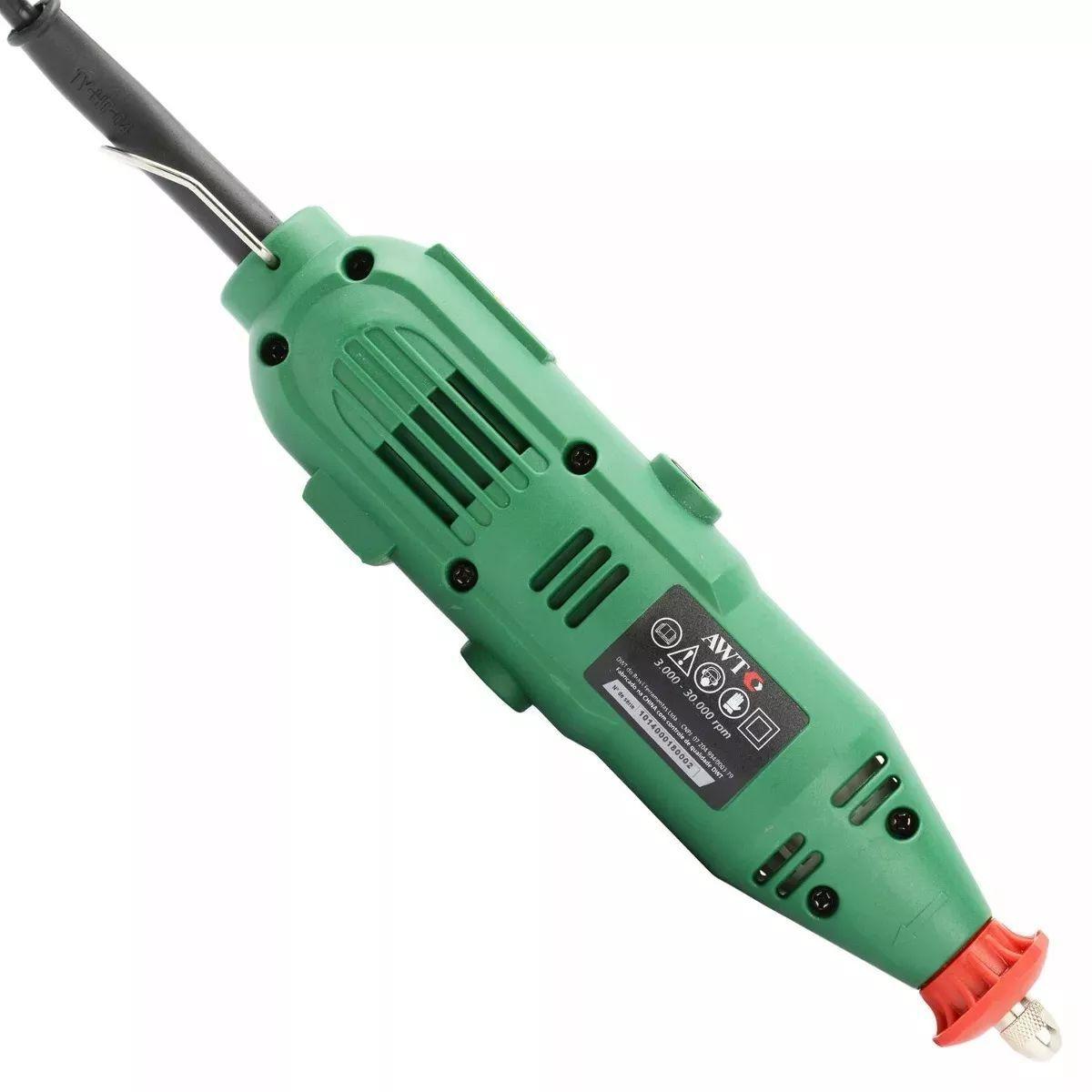 Micro Retíficas Com Acessórios 110 V Mr115 Dwt Artesanato