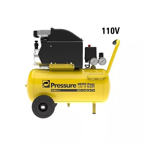Moto Compressor De Ar 8,2 Pés 24 Litros Moto Press Pressure 110V