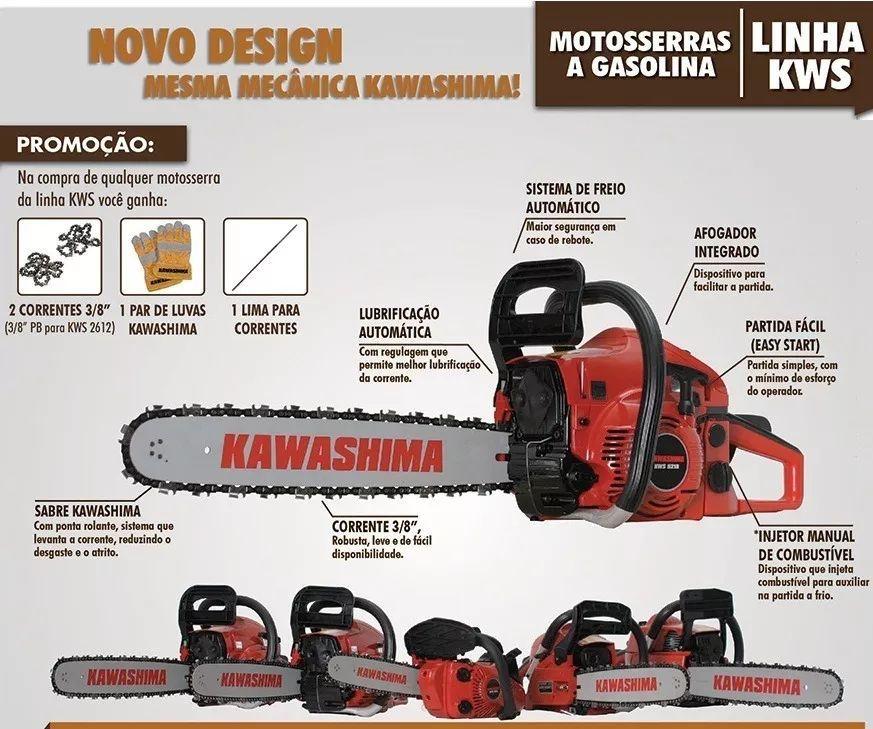 Moto Serra Gasolina 49cc Sabre 18  Kawashima 52/18