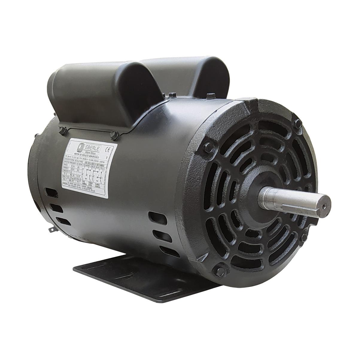 Motor De Betoneira 400 Litros 2cv Monofásico Baixa Rotação 110/220V Eberle Com Polia