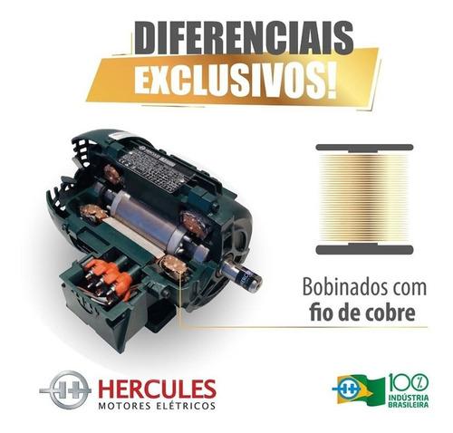 Motor De Betoneira 400 Litros 2cv Monofásico Baixa Rotação 110/220V Hercules Com Polia