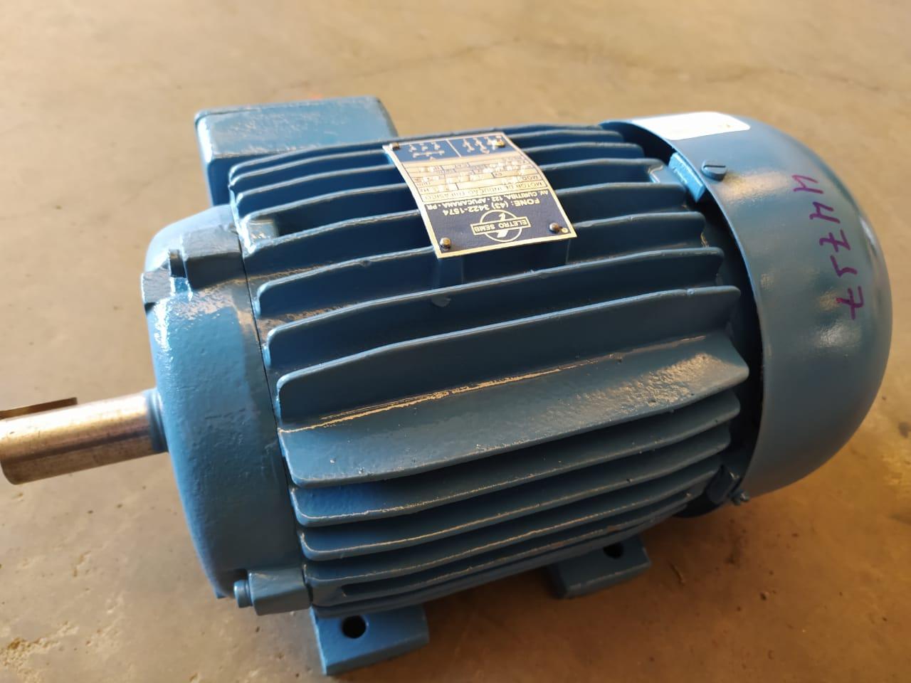 Motor Elétrico 3cv 4 Polos 1750Rpm Trifásico Blindado 220V 380V Weg Usado