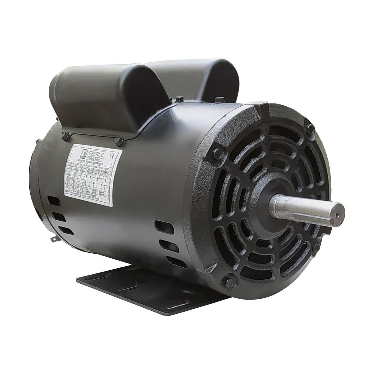 Motor Elétrico 1cv Baixa Rotação Monofásico 4 Polos Aberto Eberle Mercosul