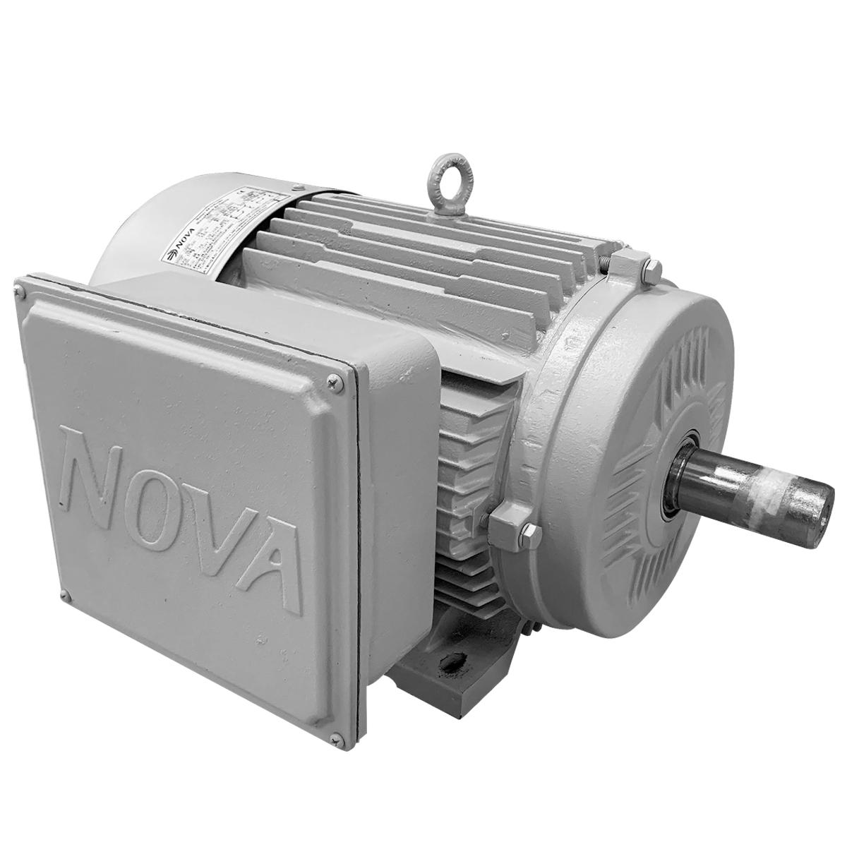 Motor Elétrico Blindado 7,5cv 4polo Monofasico Baixa Rotação Carcaça 132