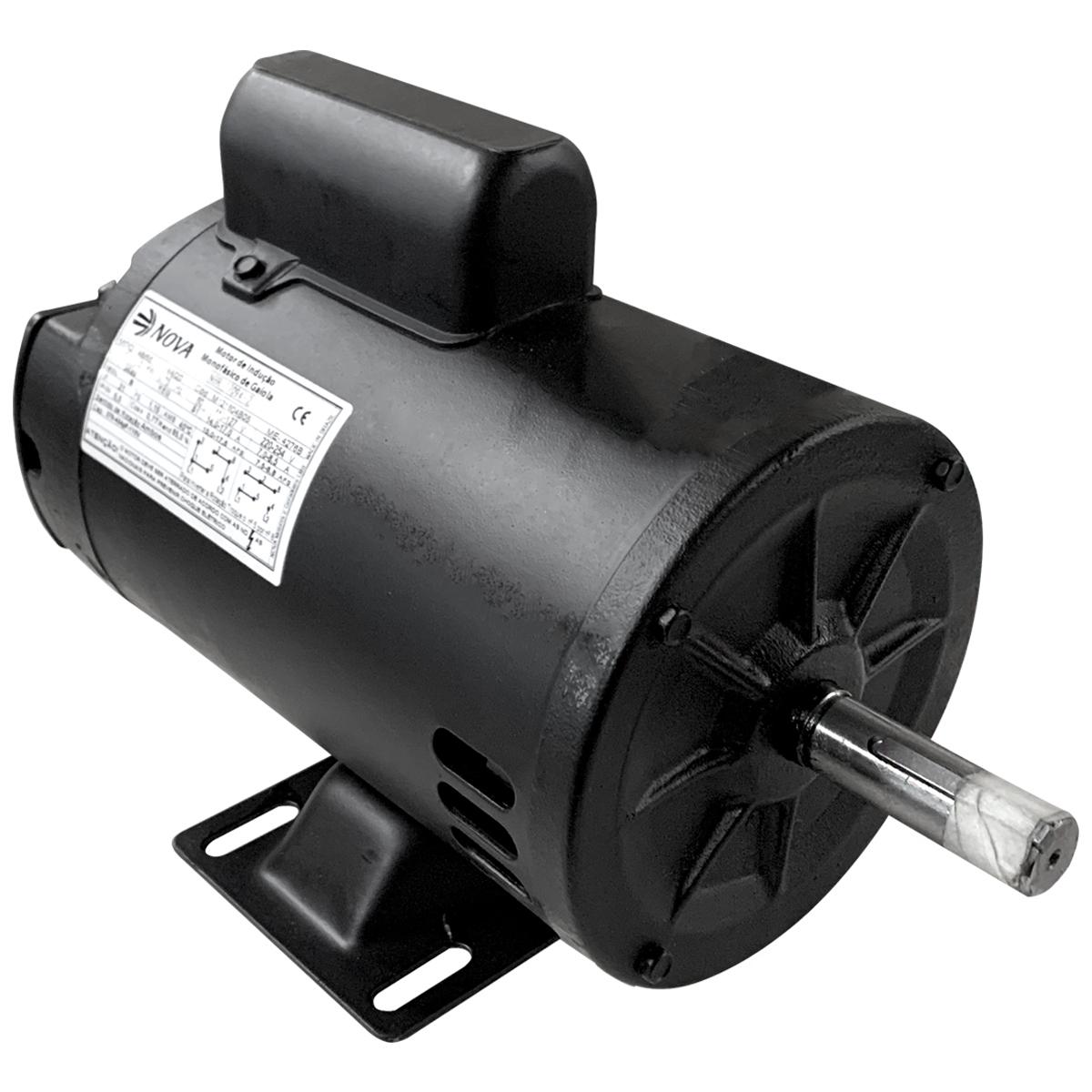 Motor Elétrico Monofásico 1cv 2polos 110/220v Alta Rotação