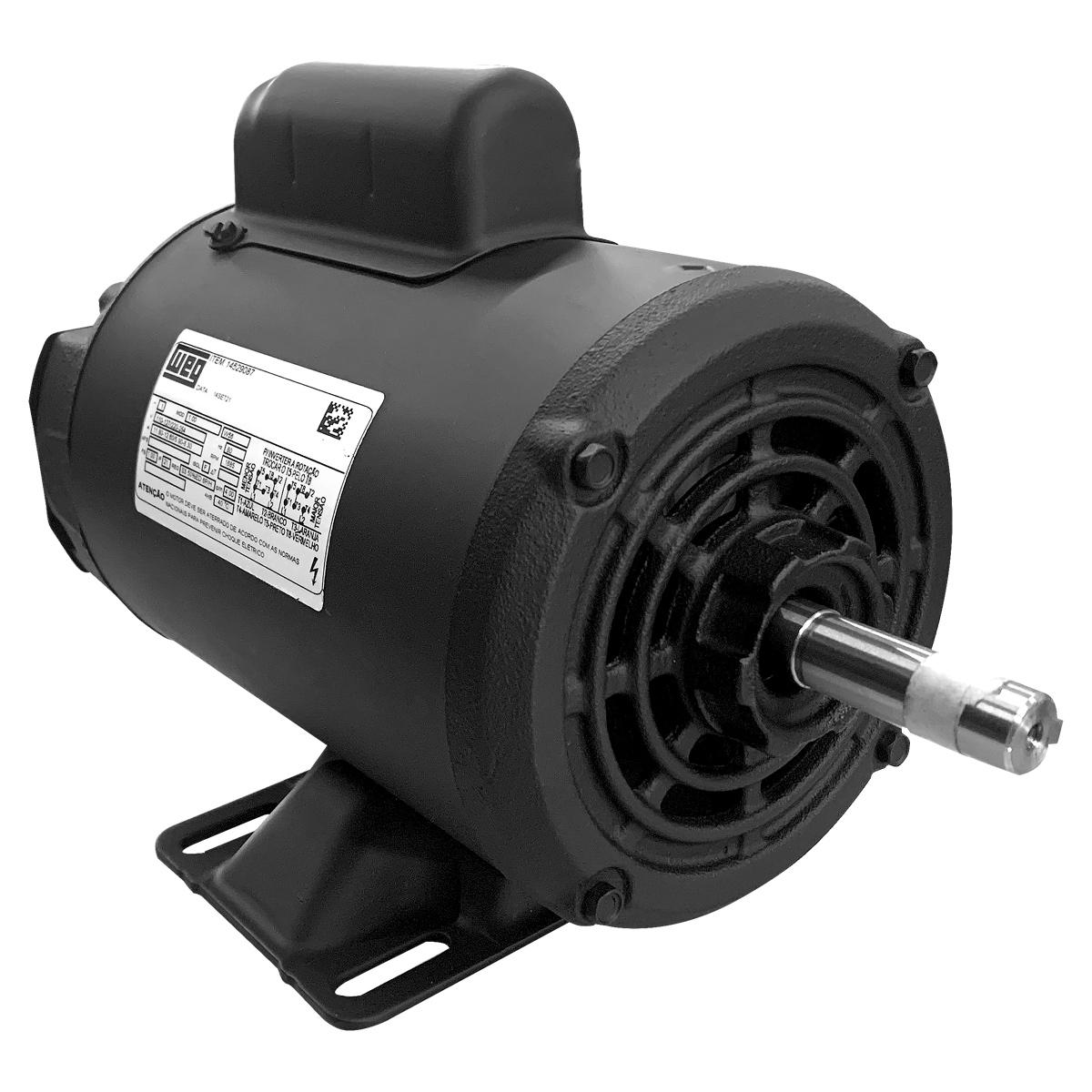 Motor Betoneira Elétrico Monofásico 1cv 4 Polos 110/220 Baixa Rotação Weg